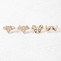 Triangular Cutout Ring Set