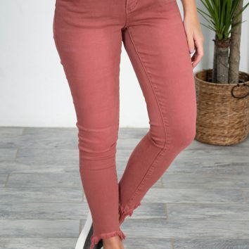 Dear John Salmon Cropped Denim