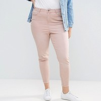New Look Plus Washed Colored Skinny Jeans at asos.com