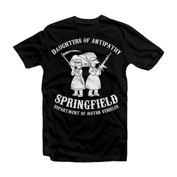 Daughters of Antipathy - Simpsons / Sons of Anarchy parody - tee shirt