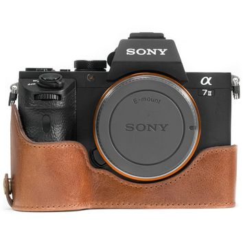 Megagear MG1130 Sony Alpha A7S II, A7R II, A7 II (28-70mm) Ever Ready Genuine Leather Camera Half Case & Strap with Battery Access, Dark Brown