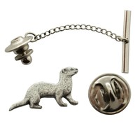 Ferret Tie Tack ~ Antiqued Pewter ~ Tie Tack or Pin