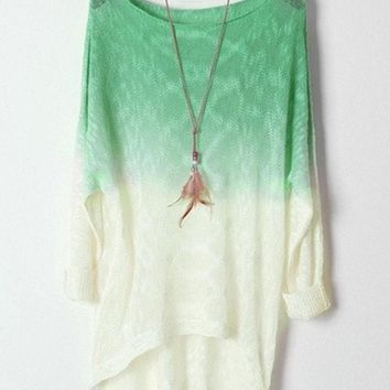 DCCKIX3 Ombre High-low Sweater = 1920551812