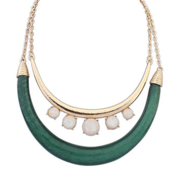 Jewelry Shiny Gift New Arrival Stylish Simple Design Double-layered Necklace [4918851076]