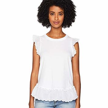 Kate Spade New York Pom Pom Trim Tee