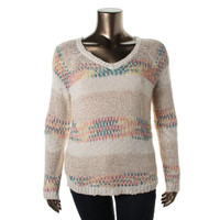 American Rag Womens Pattern Raglan Sleeves Pullover Sweater