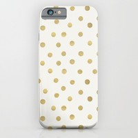 Gold Spots iPhone & iPod Case by Tamsin Lucie