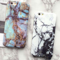 Fashion Marble Phone Case for iPhone 6 6S 6 Plus SE 5s 5 Soft Smooth TPU Full Cover case Ultra-thin Back Cover