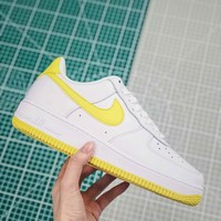 Nike Air Force 1 White/bright Citron Sneakers - Best Online Sale