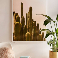 Wilder California Golden Hour Cactus Art Print - Urban Outfitters