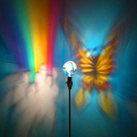 Hand-Painted Butterfly Rainbow Mood-Light Bulb 4 Parties, Night Lights, Mood Lighting