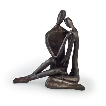Couple Embracing Love Cast Bronze Sculpture Figurine Model Statue