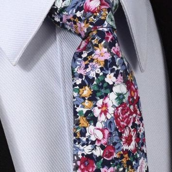 Pink Floral Tie Boyfriend Gift Men's Gift Anniversary Gift for Men Husband Gift Wedding Gift For Him Groomsmen Gift for Friend Gift Ideas