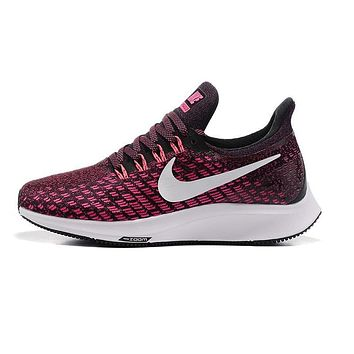Nike Air Zoom Pegasus All Out Flyknit Black White Purple