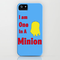 Despicable Me -I Am One In a Minion iPhone & iPod Case by Iva Ivanova ART