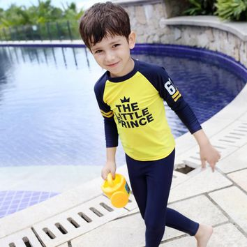 UTTU 2017 New Style Girls Boy Swimwear Bikini Swimsuit Kids Ruffled Sunscreen Swimming Suit Children Bathing Suit Quick drying