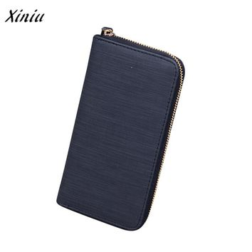 Xiniu Women Fashion Long Wallet Credit Card Holder Billfold Purse HIgh Quality Solid Leather Wallets carteira feminina