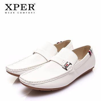 New Leather Casual Shoes Men Fashion Walking Shoes Comfortable Men Loafers Soft Footwear Driving Shoes