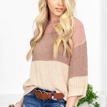 Gorgeous Gelato Color Block Sweater