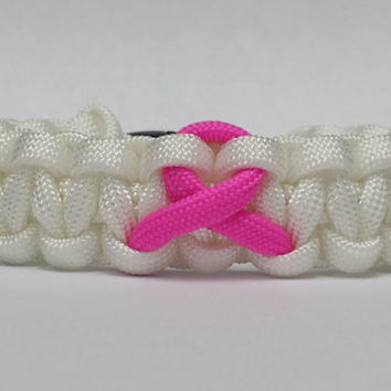 Breast Cancer Awareness Bracelet, Breast Cancer Bracelet, Breast Cancer Support Bracelet, Breast Cancer Awareness Ribbon