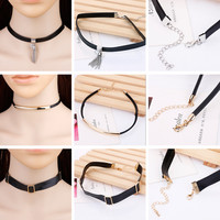 Stylish Jewelry Shiny Gift New Arrival Fashion Accessory Gifts Simple Design Embroidery Necklace 3pcs/set [10419689484]
