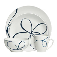Vera Wang Glisse 4-piece Place Setting | Overstock.com