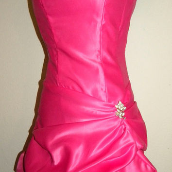 90's CACHE Hot PINK PRINCESS Prom Party Dress by JEWVENCHY on Etsy