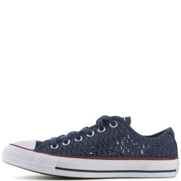 VONR3I Converse for Women: Chuck Taylor Ox Crochet Navy Sneakers