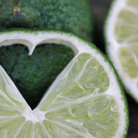 Food Print, Heart Lime Picture, Kitchen Photography, Lime Art