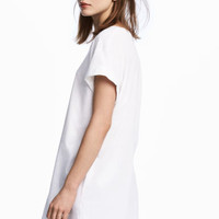 Long T-shirt - White - Ladies | H&M GB