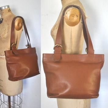 Brown COACH Large Bag / Market Tote / British Tan Leather purse