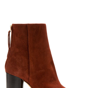 Isabel Marant Burgundy Suede Bootsy Alona Boots