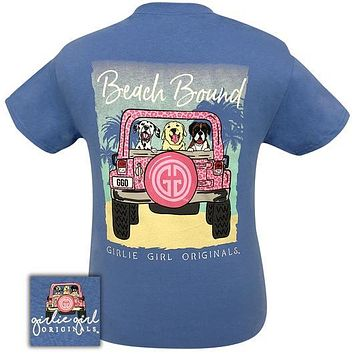 Girlie Girl Originals Preppy Beach Bound Jeep Dogs T-Shirt