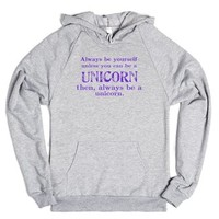 Be a UNICORN-Unisex Heather Grey Hoodie