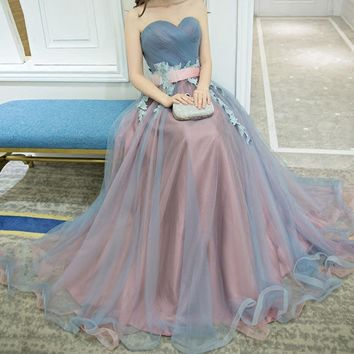 Banquet evening dress new fashion bridal toast service long Slim Moderator bridesmaid dress female performance