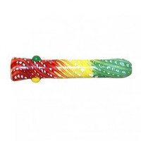 Glass Taster Pipe - Color Wrap and Rake - Rasta or Teal - Grasscity.com
