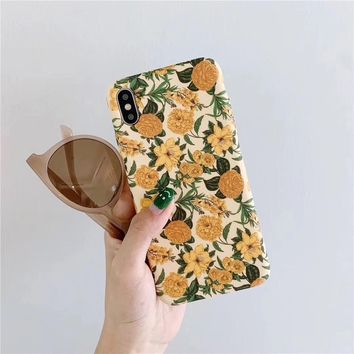 Retro Blooms iPhone Case