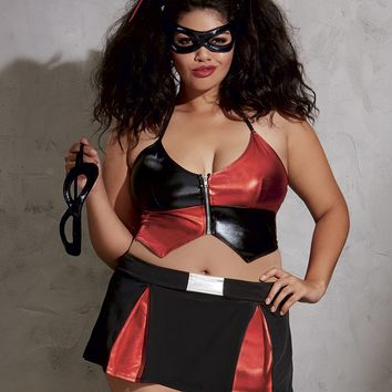 "Plus Size ""Naughty Harlequin"" Costume"