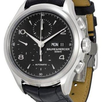 Baume and Mercier Clifton Leather Chronograph Automatic Watch MOA10211