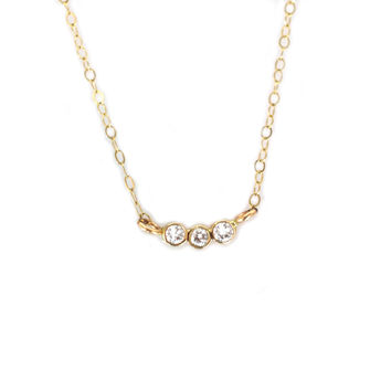 Gold Diamond Trio Pendant