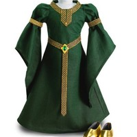 """Celtic Princess Medieval Dress and Shoes Fits 18"""" American Girl Dolls"""