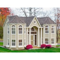 Little Cottage 10 x 16 Grand Portico Mansion Wood Playhouse | www.hayneedle.com