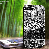 Sleeping With Sirens B&W PhotoSlide Design For iPhone 5 / 4 / 4S - Samsung Galaxy S3 / S4 ( Black / White case )