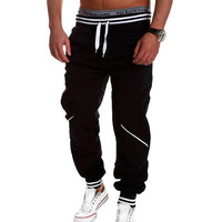 Mens Joggers Pantalon 2016 Male Brand Men Pants Hit Color Stitching Sweatpants Jogger Pantalones 2XL TUHBNE