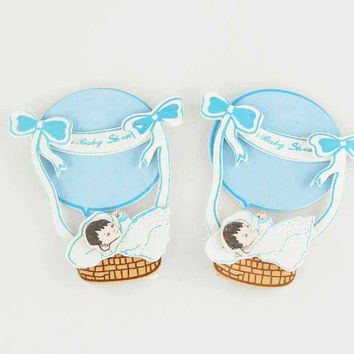 Baby Shower Foam Decor, 3-1/2-inch, 2-pack, Parachute, Light Blue