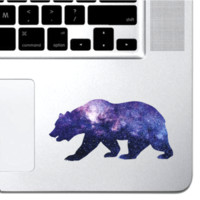 Cosmic Bear Macbook Pro Air 13 15 Touch Bar Keyboard iPad Laptop Decal Grizzly