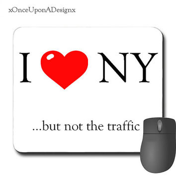Funny Mouse Pad I love New York Mousepad Perfect Gift