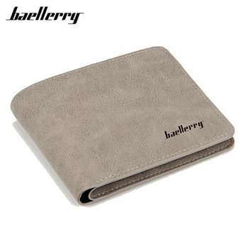 Baellerry 2017 men wallets mens wallet small money purses Wallets New Design Dollar Price Male Wallet Purse with zipper Coin Bag