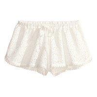 H&M - Beach Shorts - White - Ladies