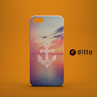 Anchor Ocean Peach Sunset Custom Case for iPhone 6 6 Plus iPhone 5 5s 5c GalaxyS 3 4 & 5 6 and Note 3 4 5